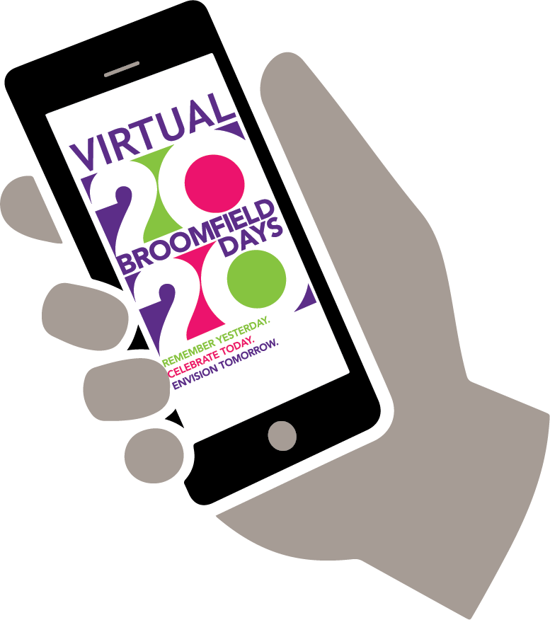 Broomfield Days logo on mobile