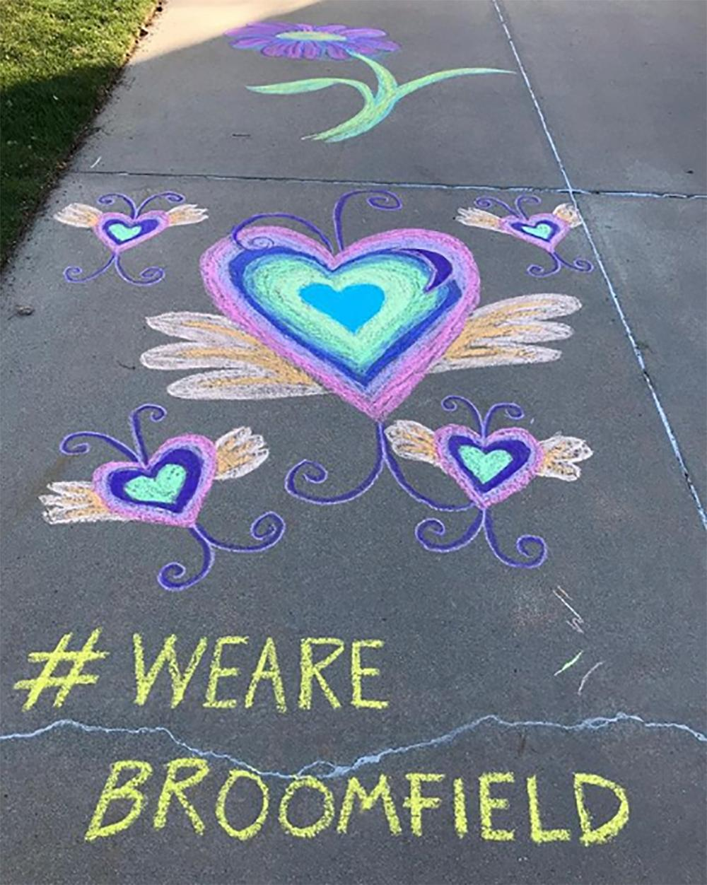Colorful Chalk are We Are Broomfield
