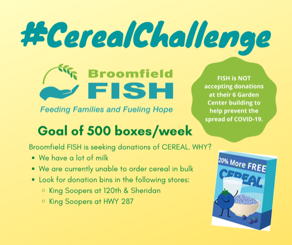 KingSoopers and FISH Cereal Challenge