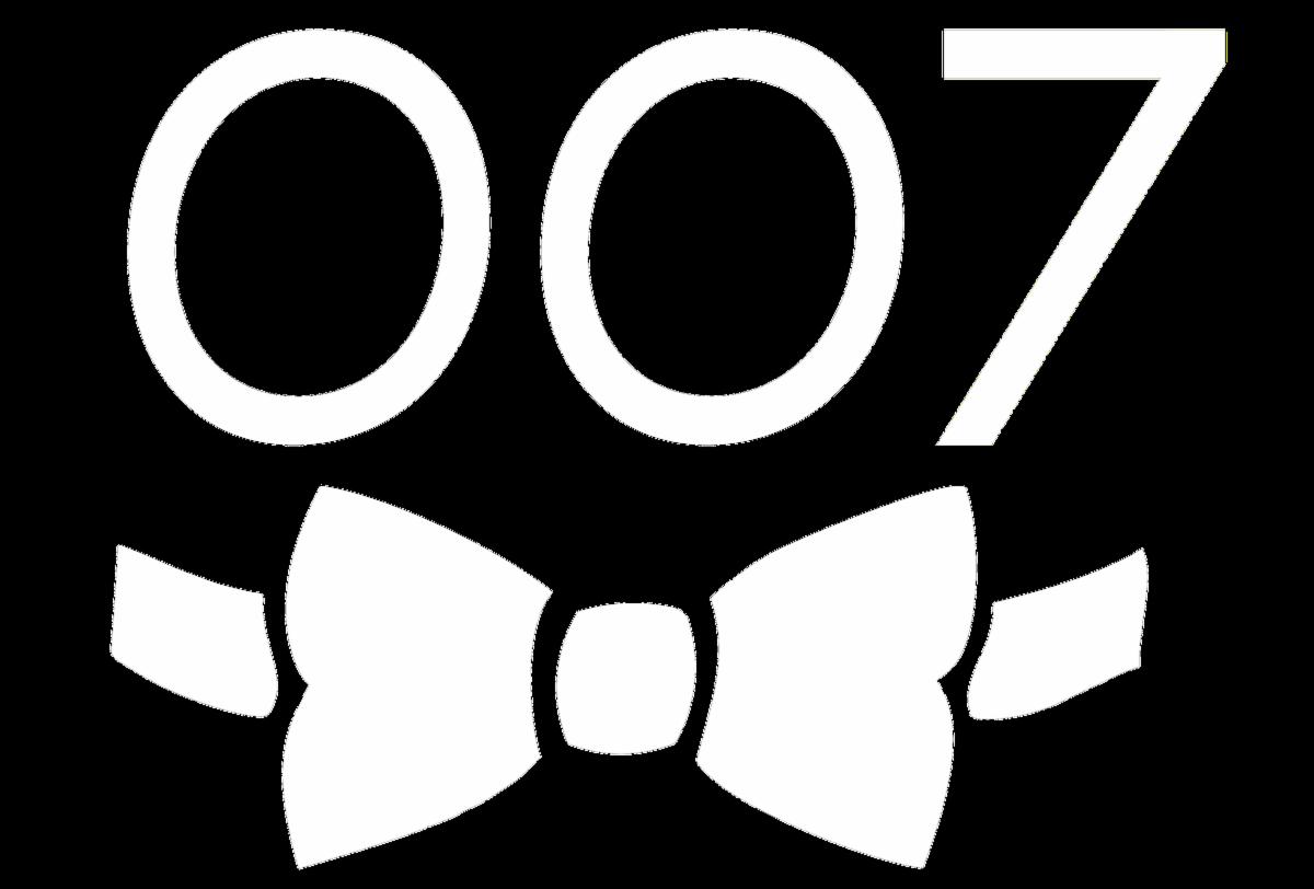007 Bowtie - White