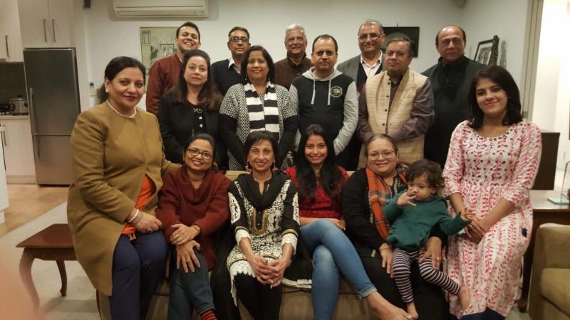 GOPIO Auckland Chapter officials with guests at its monthly meeting