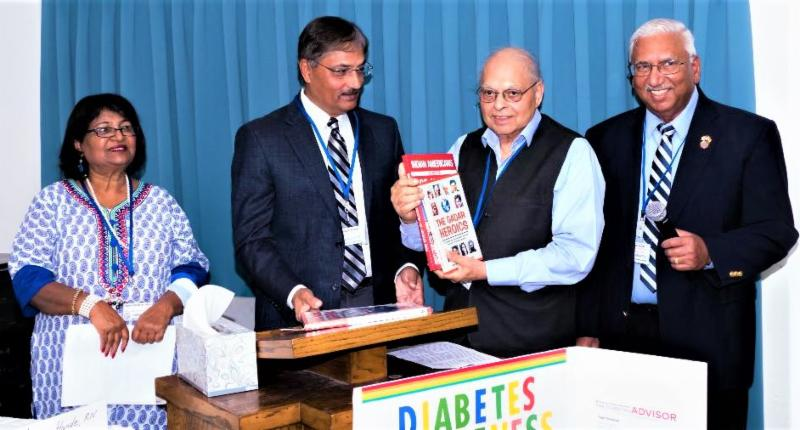 Presentation of books to speakers at GOPIO Diabetes Summit