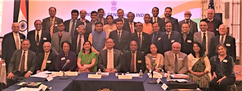 GOPIO International and Chapter officials with Indian Consulate officials