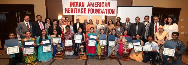 Indian American Heritage Awards 2018 High school winners with organizers