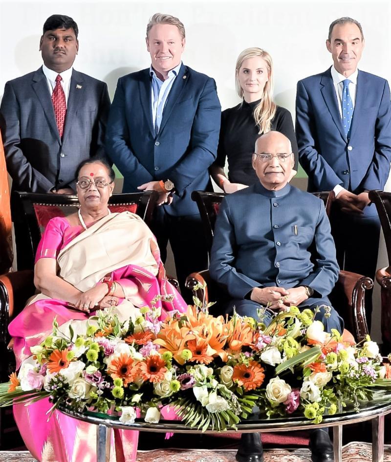 Ishwar Ramlutchman Meets President Ram Bath Kovind