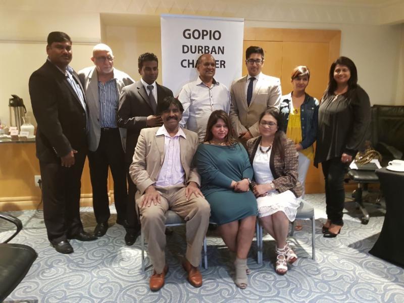 Newly elected GOPIO-Durban officials