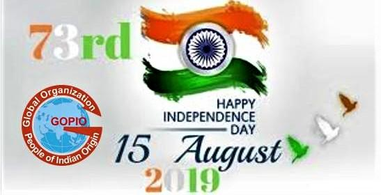 GOPIO Independence Day Greetings 2019