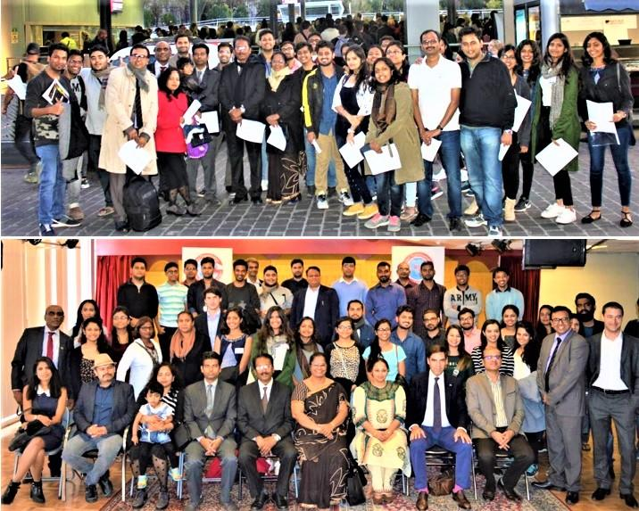 GOPIO-France Paris officials with Indian students in France