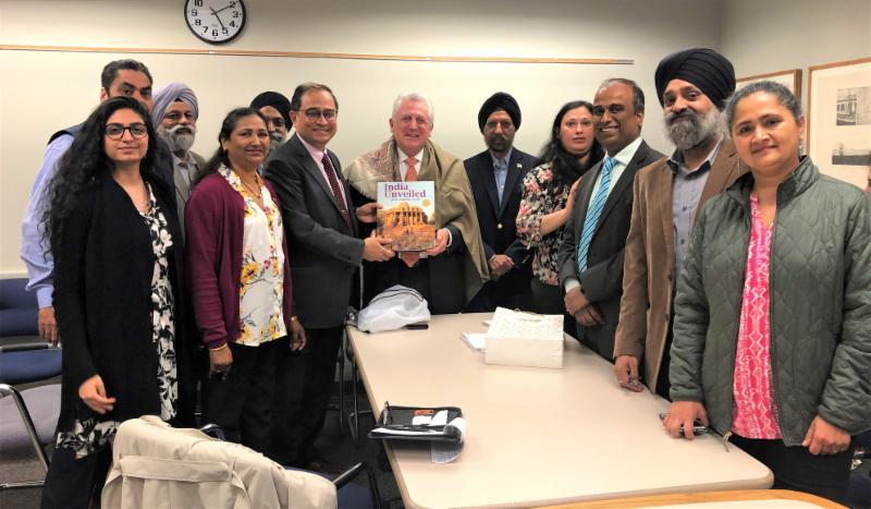 Ambassador Chakravorty with Norwalk Mayor Harry Rilling