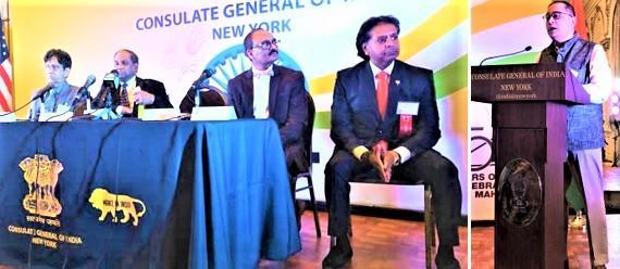 Consul General Sandeep Chakravorty speaking at the GOPIO Health Summit