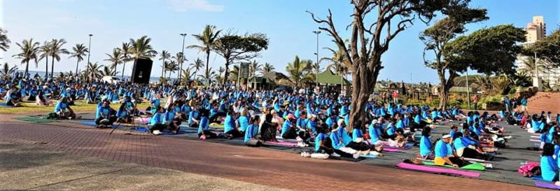 Participants at the Yoga Day 2018 in Durban
