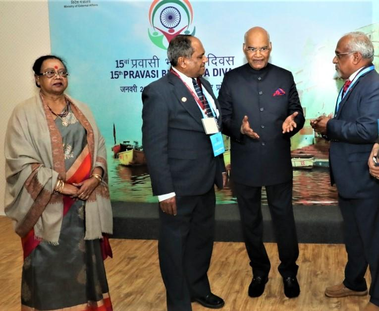 GOPIO Officials with Indian President Kovind
