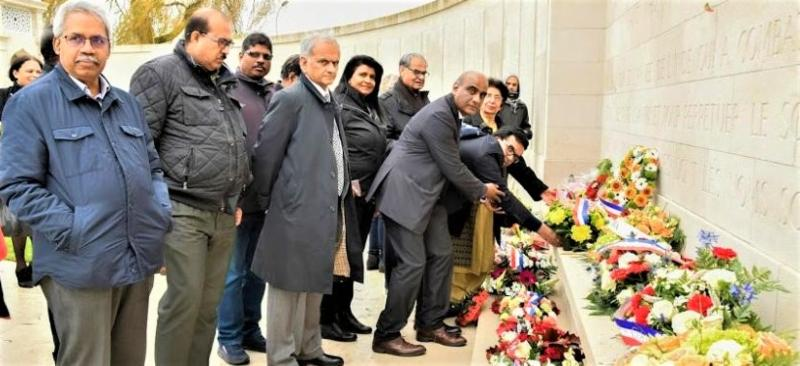GOPIO France paying homage to Indian Soldiers Died in WWI