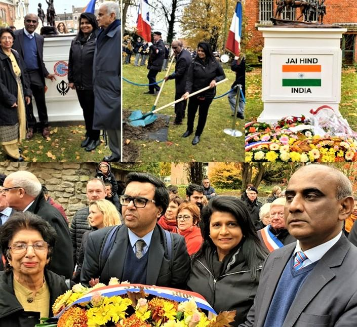 GOPIO pays Homage to Indian Soldiers at Neuve Chapelle