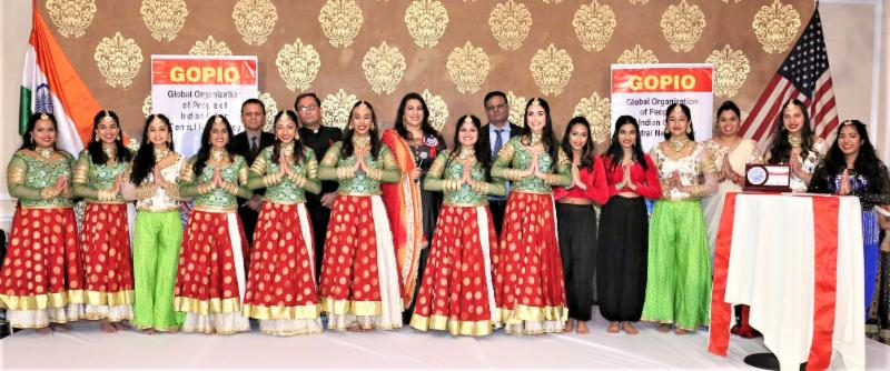 GOPIO-CJ Awards Gala - Rina Shah and Aum Dance Group after receiving award