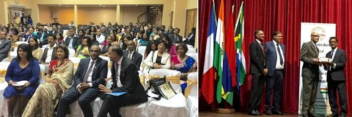 GOPIO Mauritius Audience and Ti Diams Receiving Donation