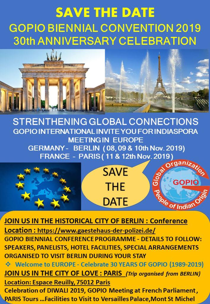 GOPIO Convention in Berlin