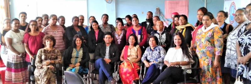Participants with GOPIO Triolet North chapter officials and panelists