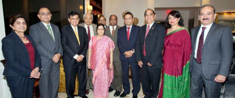 GOPIO delegation meeting with Minister for External Affairs Sushma Swaraj