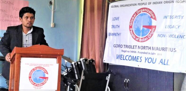 Workshop Resource Person Dr. Omnish Chickooree speaking