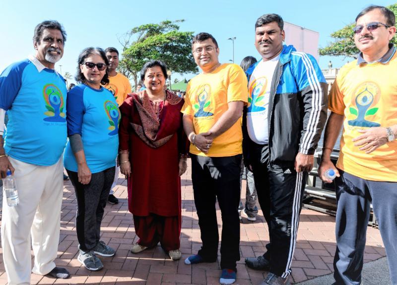 Dignitaries at Yoga Day 2018 in Durban