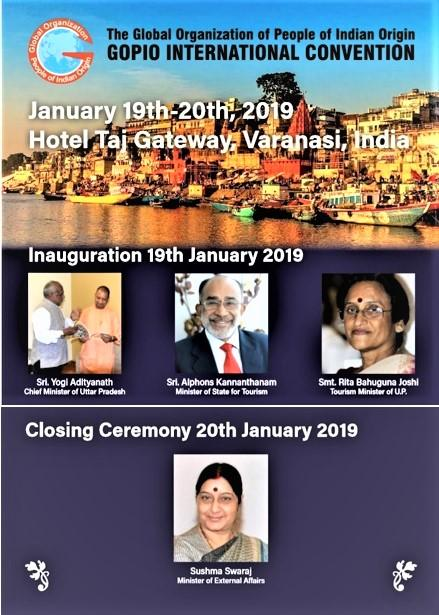 GOPIO Convention 2019 in Varanasi Flier