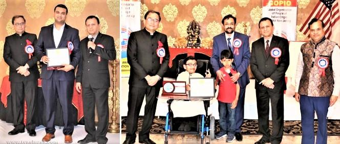 Amit Jani and Sparsh Shah being  recognized