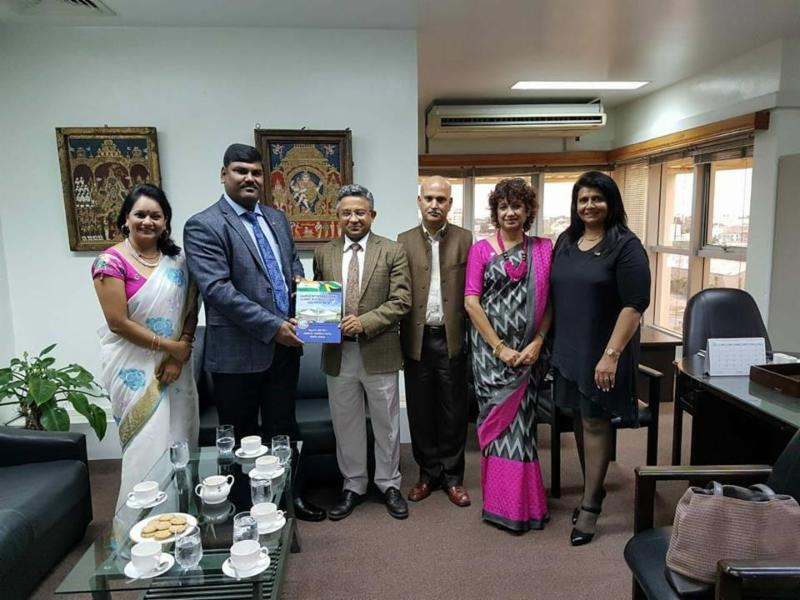 GOPIO officials with Indian High Commissioner Abhay Thakur