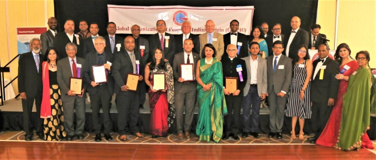 GOPIO-CT Awardees and scholarship recipients with Dignitaries and officials