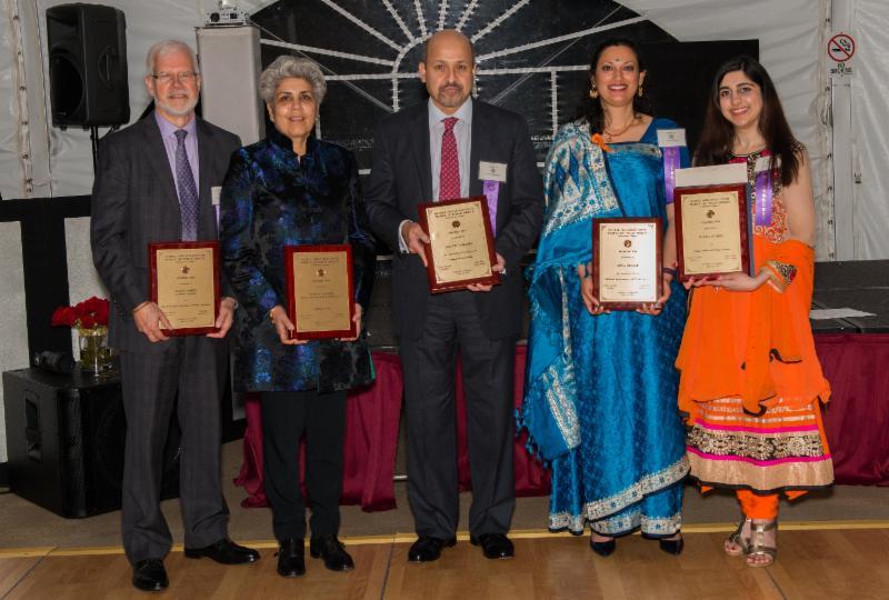 GOPIO-CT 2016 awardees David Smith, Anjali Sharma, Sachin Lawande, Annapurna Duleep and Roopa Modha