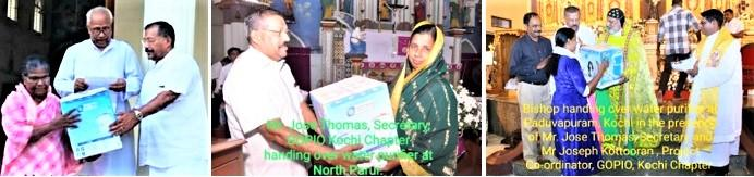 GOPIO-Kochi providing water purifiers in Kuttanad