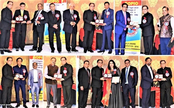GOPIO CEntral Jersey Awards being presented