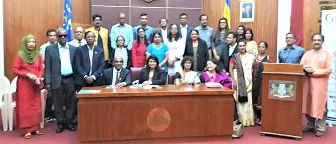 Speakers and Participants at GOPIO Mauritius Seminar