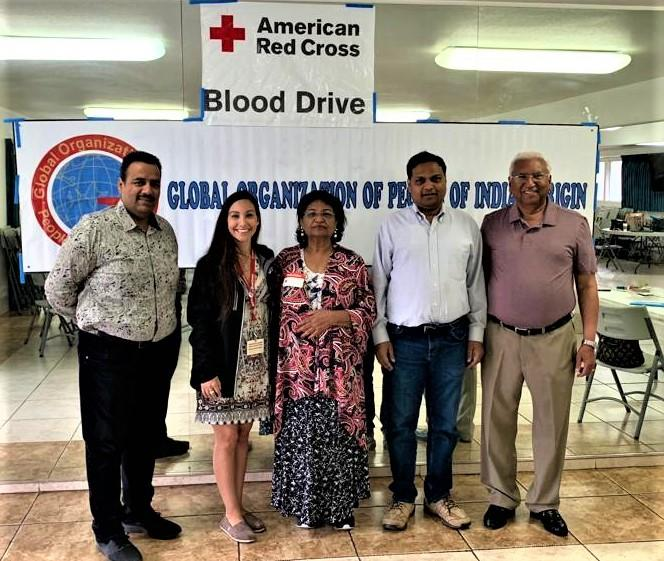 GOPIO-LA Officials at Blood Drive 2019