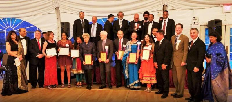 GOPIO-CT 2016 Awardees with Dignitaries and GOPIO Officials