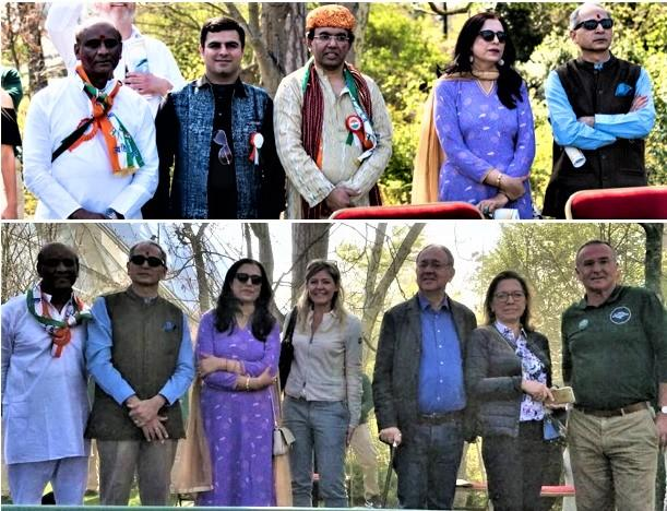 Organizers with dignitaries and sponsors at Holi Celebration