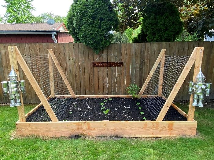 Photo of finished garden bed