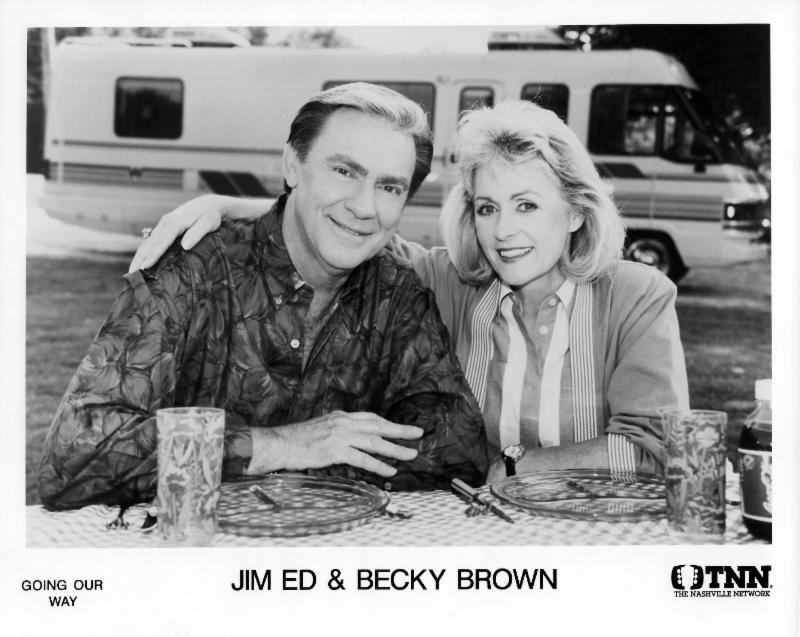 Jim Ed  and Becky  TV hosts Going Our Way