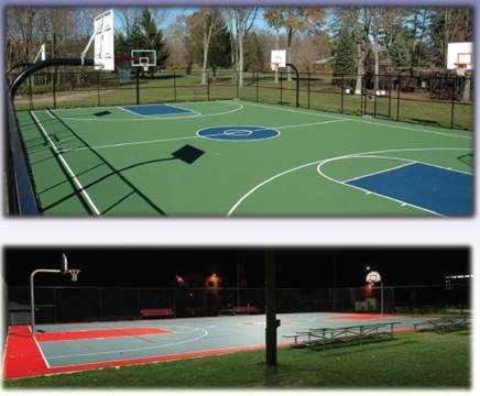 new basketball court