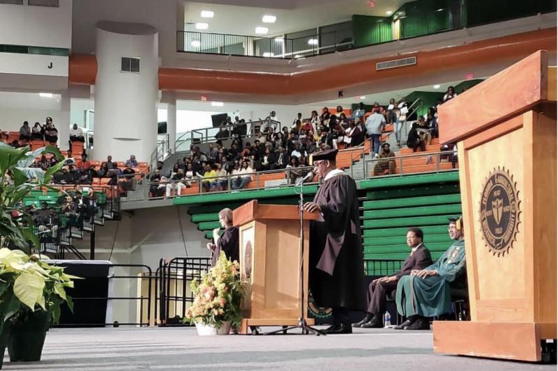 Mayor Demings speaking at FAMU
