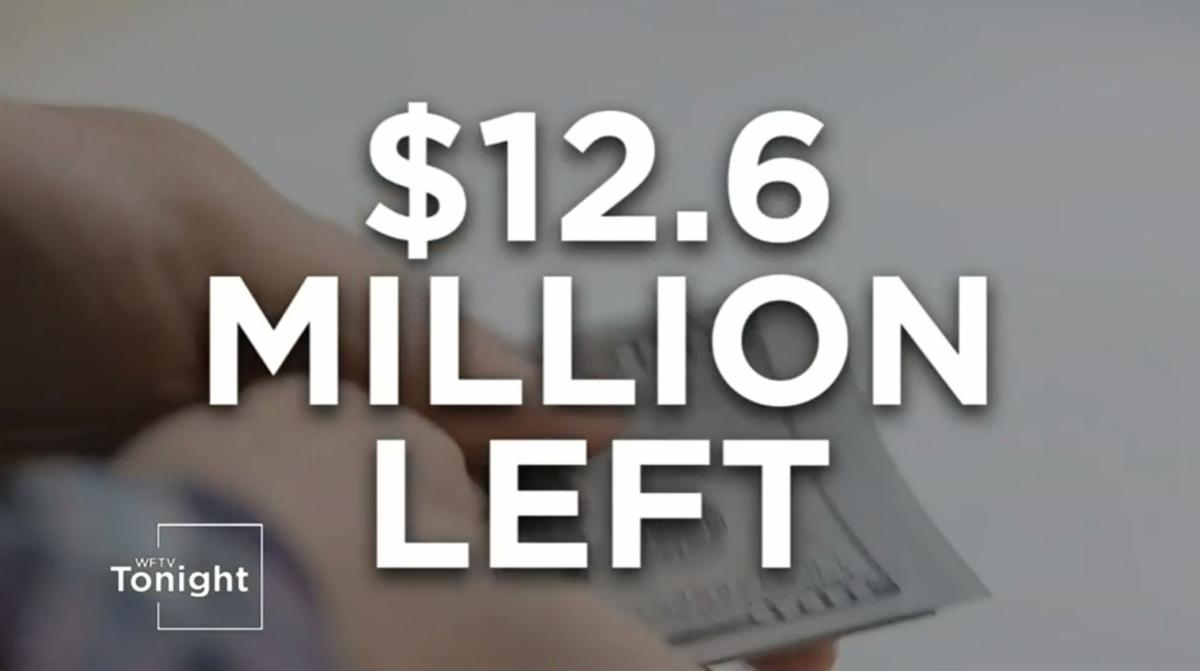 The words $12.6 million left