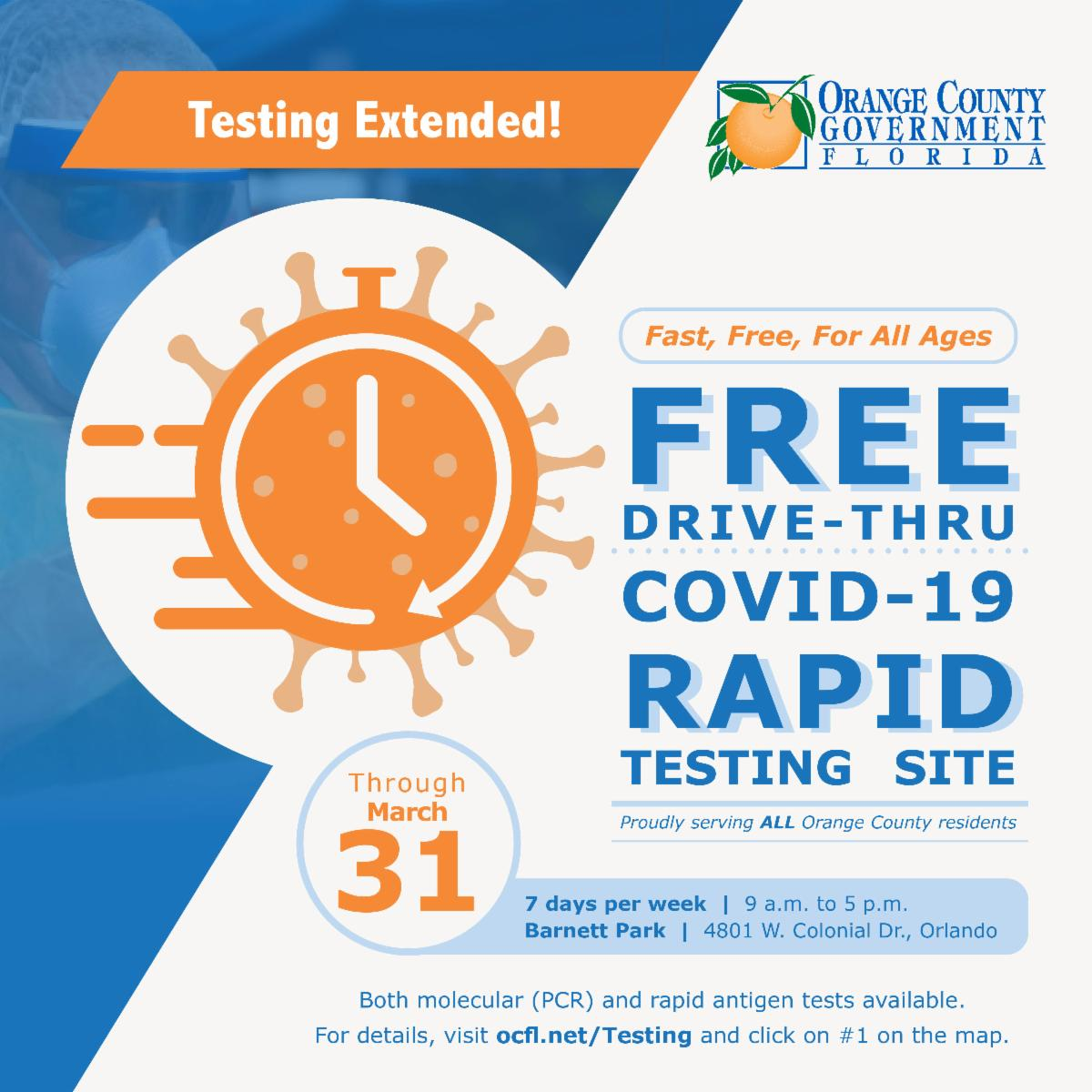 Testing extended through march