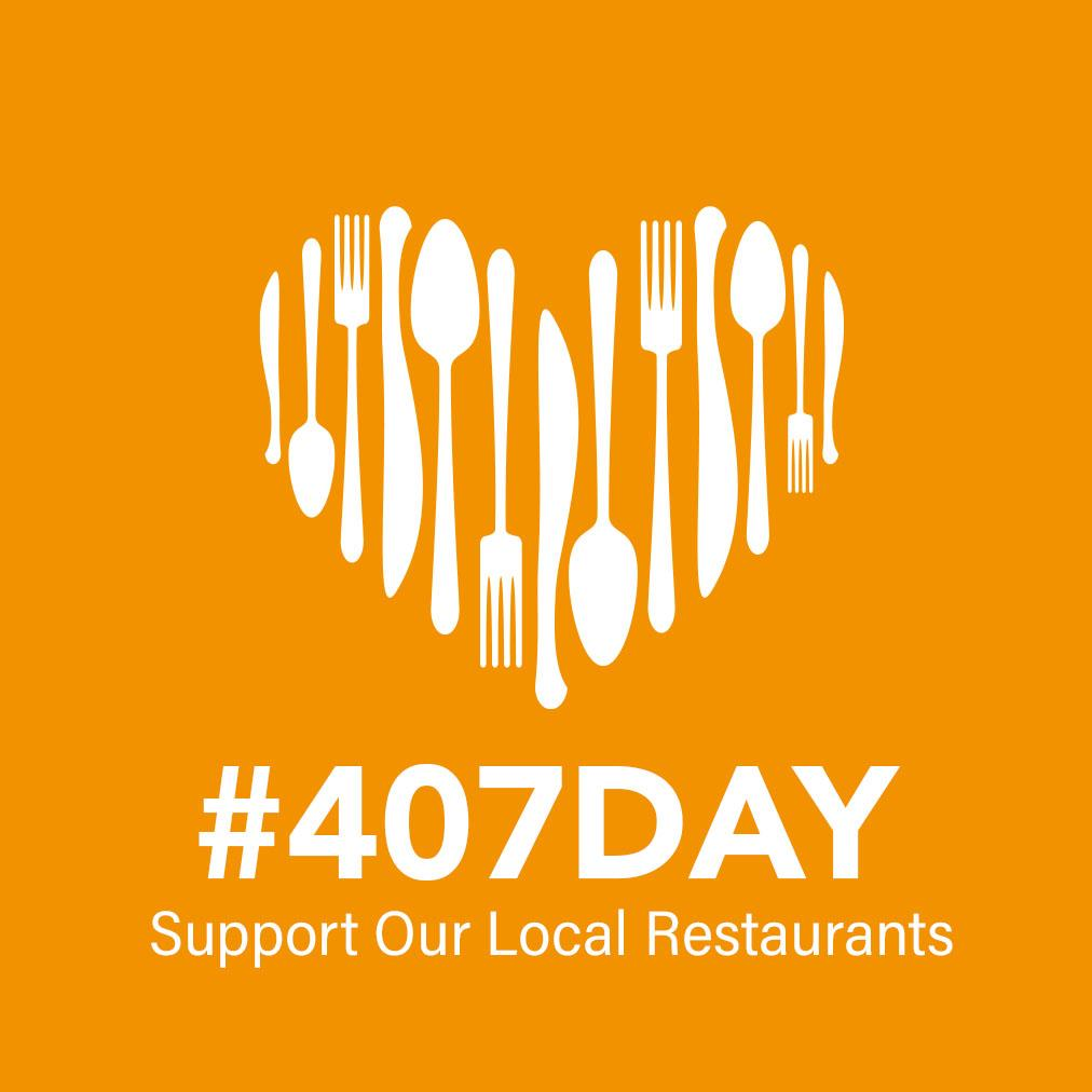 407 Day Support our Local Restaurants