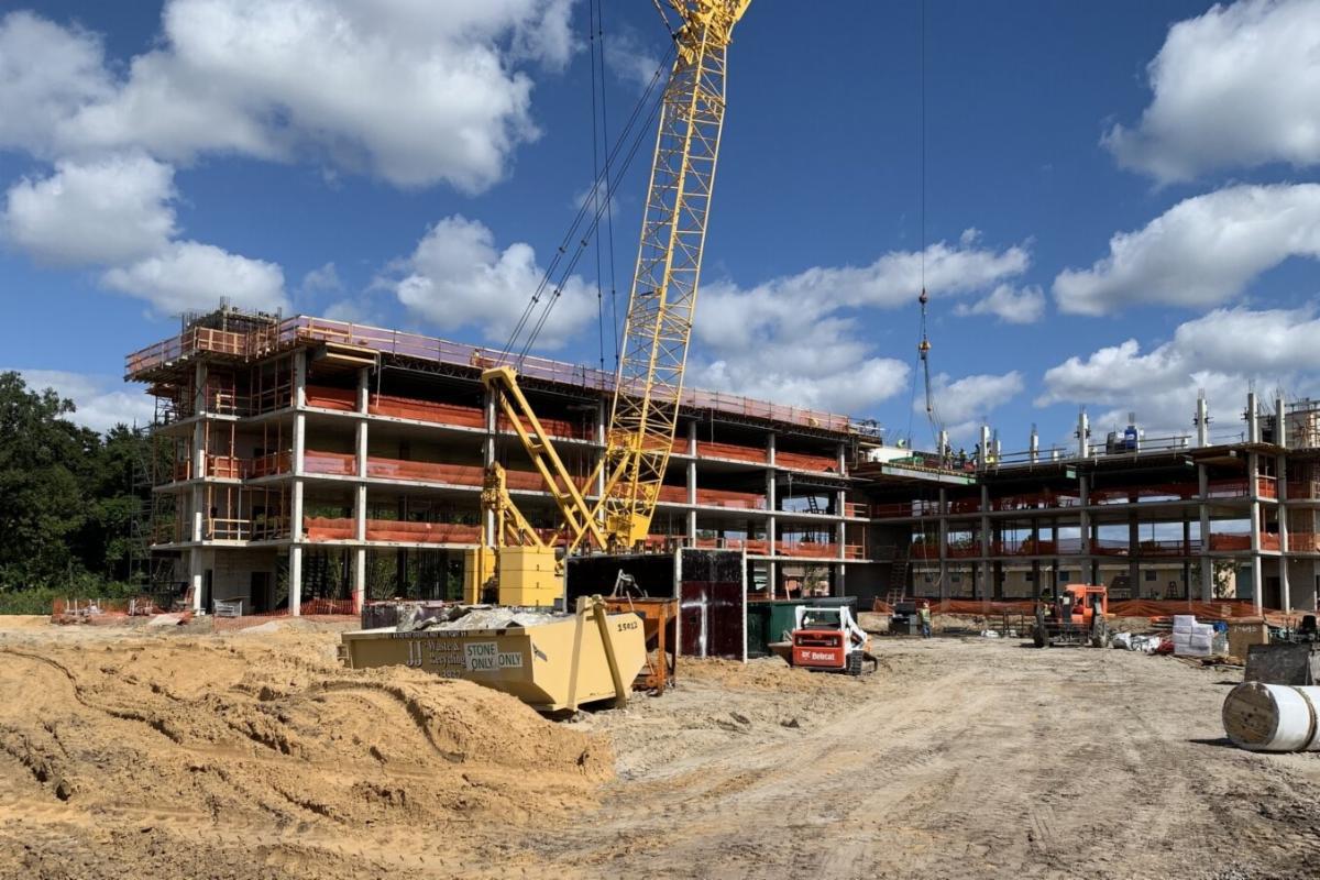An apartment build under construction