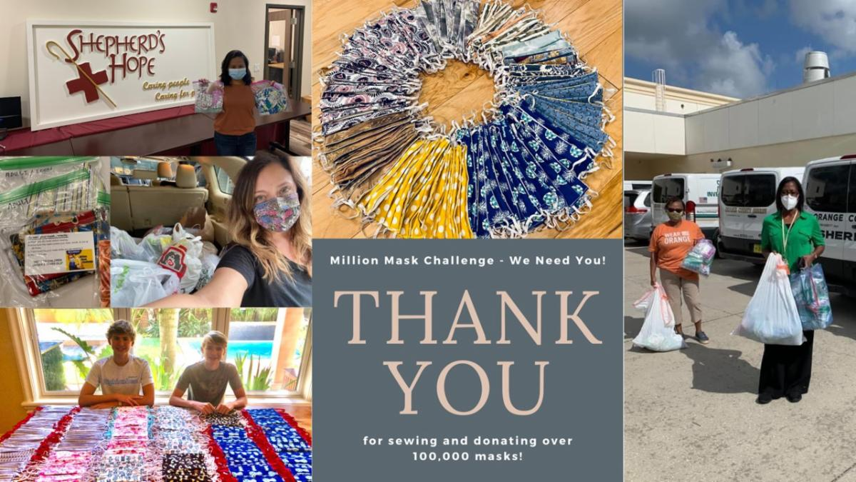 Photo collage thanking the Million Mask Challenge group