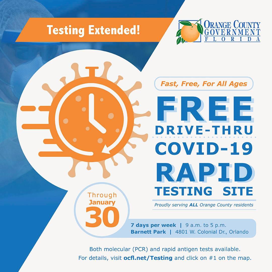 Free Drive-Thru Covid-19 Rapid Testing site