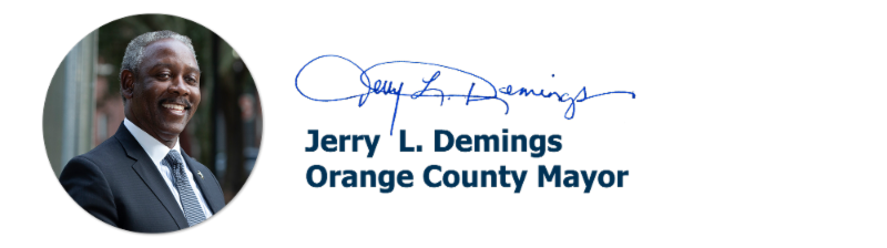 Jerry L. Demings, Orange County Mayor signature