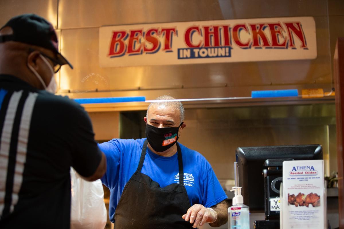 A restaurant sign reading Best Chicken