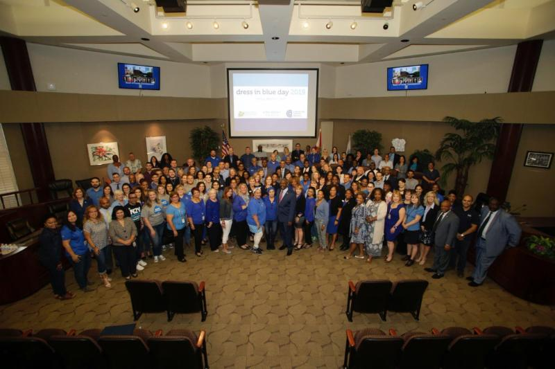 Twitter Post - Dress in Blue Day for Colorectal Cancer Awareness
