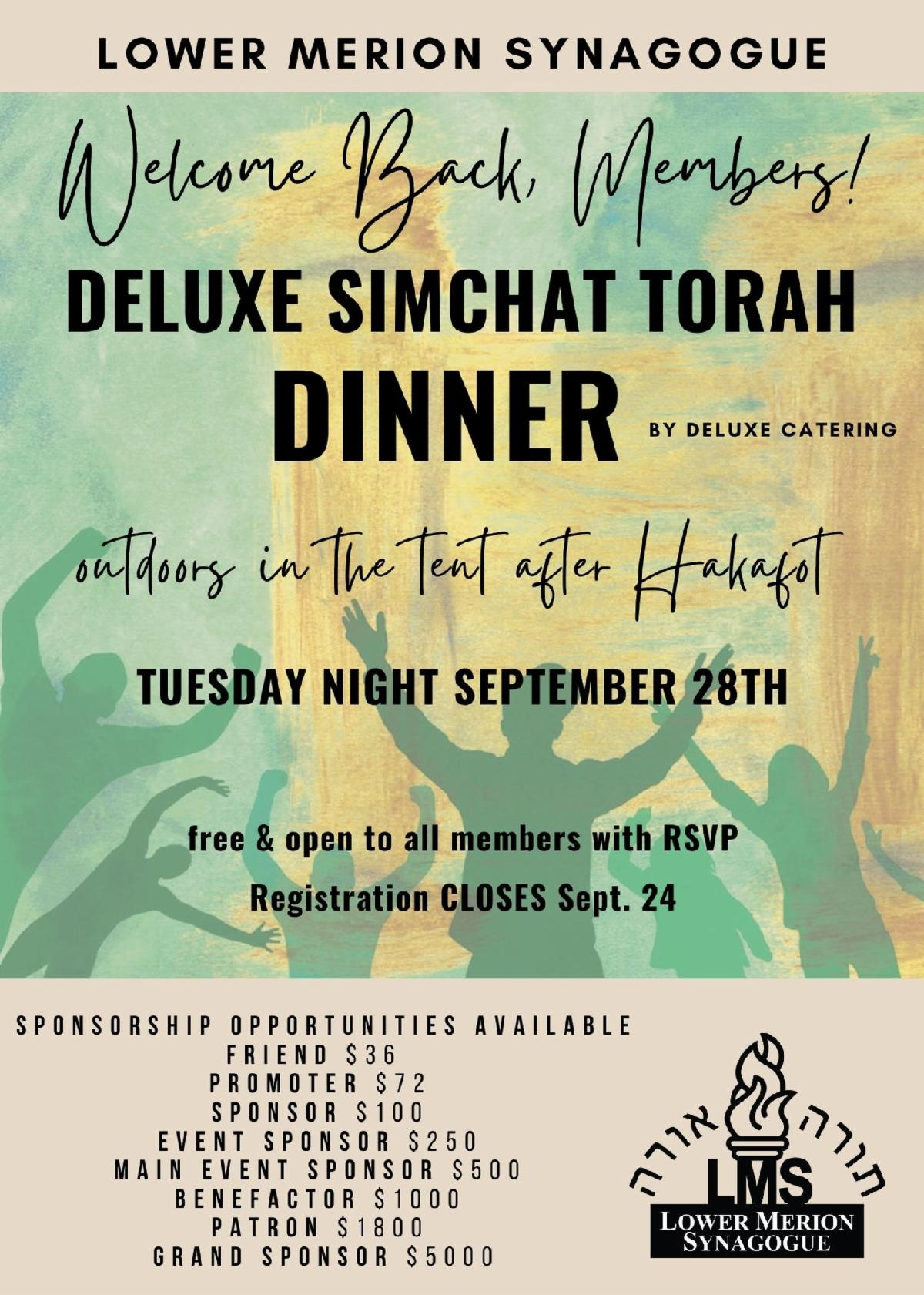"""</a>                                                                                                                                                                                      <a href=""""https://www.lowermerionsynagogue.org/form/Welcome%20Back%20Simchat%20Torah%20Dinner%205782"""" class=""""slider_link""""                             target="""""""">                             To RSVP Click Here                            </a>"""